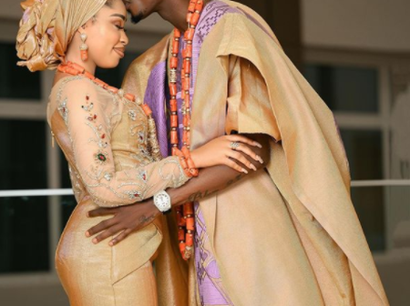 Mix Reactions As Yetunde Barnaba And Footballer Peter Olayinka Hold Their Wedding Introduction