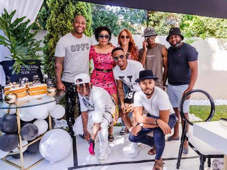 Former Generations actor Anga Makubalo famously known as NaakMusiQ celebrated his birthday in style.