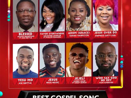 The Most Crusial Category: Who Wins the Gospel Song of the year award – check out the nominees.