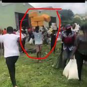 This Is Witchcraft! As Man Abandons Looting Food Items And Starts Packing Jerry Cans.