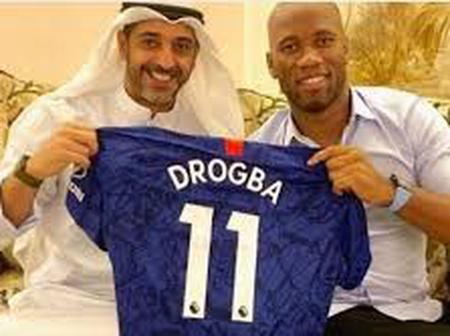 Check out the award Didier Drogba got from UAE following his contributions in their sports sector.