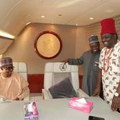 Photos of Buhari, Ojukwu, Obasanjo, Jonathan and others using Nigeria's Presidential Jet