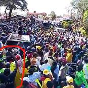 What This Man Was Spotted Doing As DP Ruto Addressed Residents Of Ndakaini In Murang'a