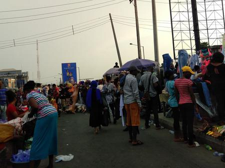 PHOTOS: How Lagosians flooded second hand clothes market in Yaba to shop for Christmas