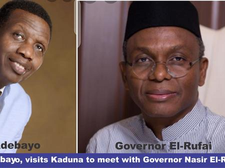 Pastor Adeboye, Visits Kaduna State to meet with Governor Nasir El-Rufai