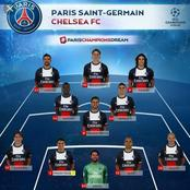 How Paris Saint Germain could possible lineup against Anger today