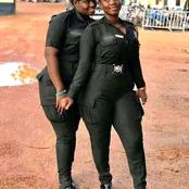See photos of Two beautiful Female Police Officers Making wave in the internet