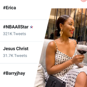 Erica is currently trending on Twitter, See what she posted that got many trends.
