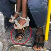 Reactions as man posts picture of a woman's sandals