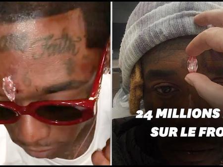People : un diamant de 12 milliards F CFA greffé sur le front du rappeur Lil Uzi Vert
