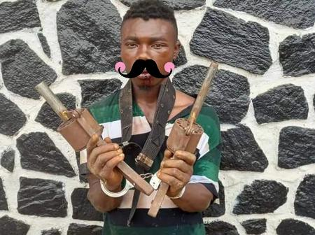 Photos of the notorious killer that was caught with the deadly traditional weapons in Lagos State
