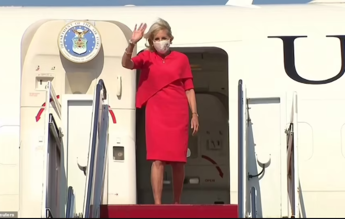 US first lady, Jill Biden touches down in Japan for the Tokyo Olympics (photos)