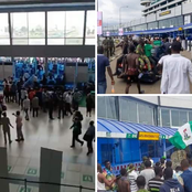 Hours After Prison Was Broke In Edo, EndSARS Protesters Breaks Into Lagos Airport (photos)