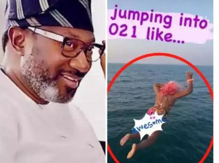 Otedola Reacts An Hour After His Daughter, DJ Cuppy Jumped Into The Ocean, See People Reaction.