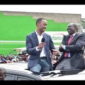 Shy Moments Of President Uhuru's Son Infront Of DP Ruto