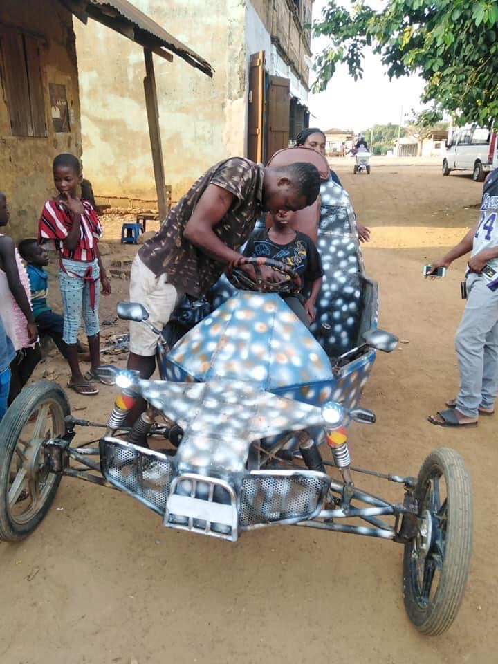 e179844a821444259a013dae49f03f6b?quality=uhq&resize=720 - Ghana Got Talent! Young Guy Builds His Own 'Three-Wheel Roadster', Beautiful Photos Drop