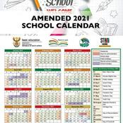 Check the new amended school calender for 2021.