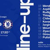 OFFICIAL : Chelsea starting line up against Fulham