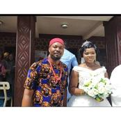 Igbo Man Rocks 'Isi Agu' And Traditional Red Cap For His White Wedding , People React