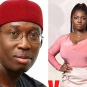 BBNaija: Dorathy gets emotional as Governor Ifeanyi Okowa congratulates her for being 1st runner up