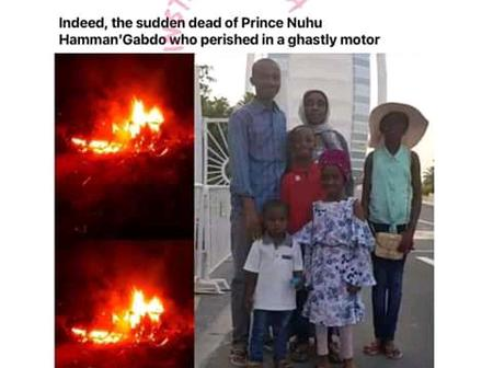 Sad : Man, Wife And Four Children Die In Ghastly Motor Accident