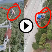 Video: See The Risk That Electricians Subject Themselves To When Working On A Power Tower
