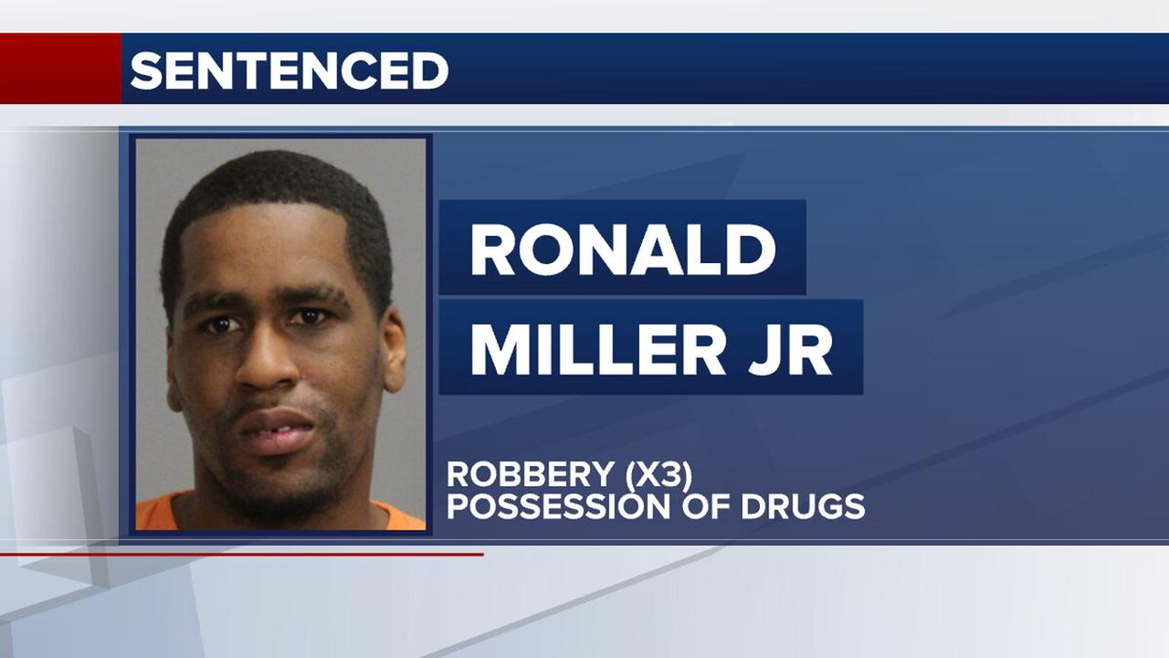 Local man sentenced to 38 years for multiple robberies