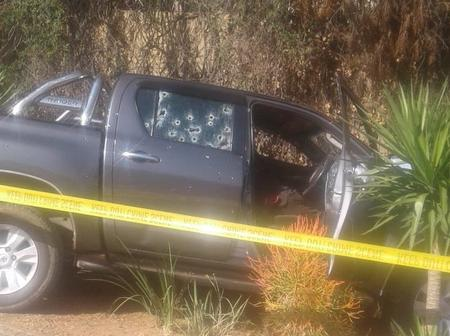 15 rounds fired at a Taxi boss, right behind the Fourways Mall in Johannesburg today.