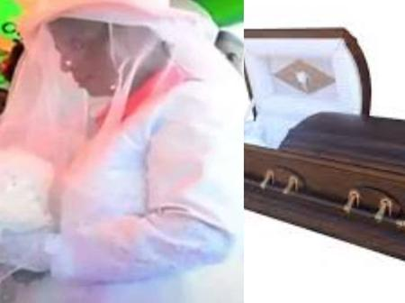 A woman does the unthinkable by marring her late husband corpse, see reasons why