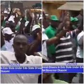 Edo 2020: See What The Members Of Edo State Drivers Association Did To Obaseki When He Visited Them