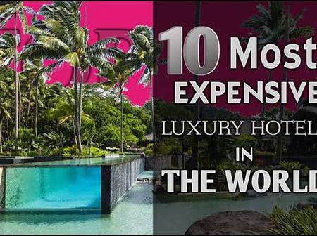The top ten most expensive hotels in the world.