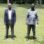 Gideon Moi Visits Raila Odinga At His Home