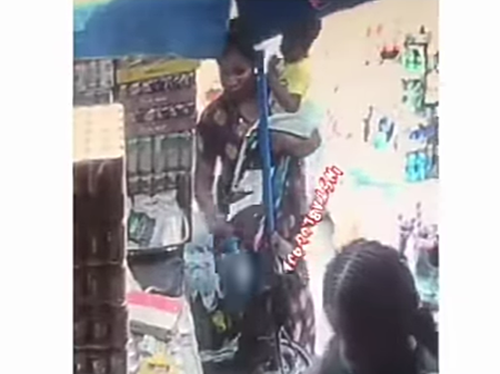 What A Nursing Mother Did In A Shop When No One Was Looking At Her As Shop Owner Cries Out (Video)
