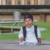 The shortest man in the world.