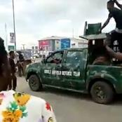 See What Aba Protesters Did To This Army Officers And Their Hilux (PHOTOS)