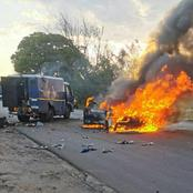 Robbers blast money truck in Germiston