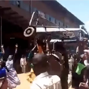 Video of UHURU's Men Being Chased Away Like Stray Dogs While Campaigning for BBI in Nyeri