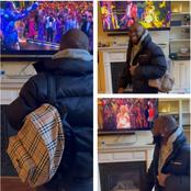 Checkout what Davido did as he watched himself performed in the midst of his childhood legend