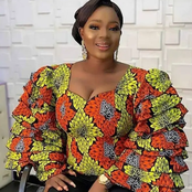 Latest And Trendy Ankara Blouse Styles For Married And Single Ladies
