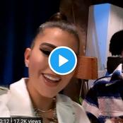 (Video): American Singer Enisa Finally Meets Davido In Atlanta