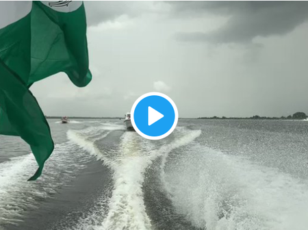 Nigerians React To The Video Of The Super Eagles Riding On A Boat