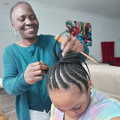 Popular actress shows off her grandma who was helping her with her hair