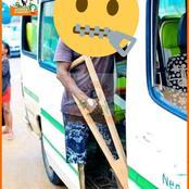 Voici la photo de cet apprenti-gbaka estropié qui émerveille la toile