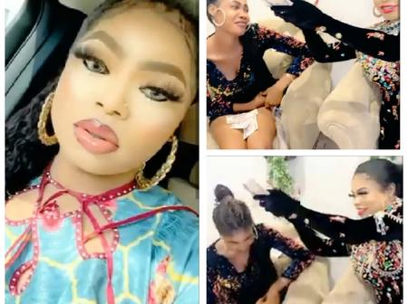 Bobrisky Flew A Lady That Drew Her Name From Ivory coast To Nigeria And Sprayed Money On Her