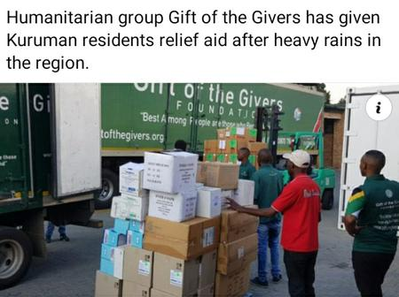 Gift Of The Givers Help Kuruman Residents With Relief AID After Heavy Rains