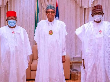 Buhari Receives Governor Umahi In Aso Rock To Welcome Him To APC, Sparks Reactions Online