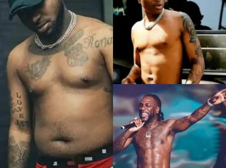 Shirtless photos of some Nigerian celebrities