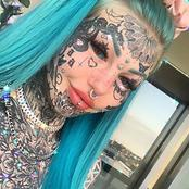 Meet the dragon lady, the one with the most tattoos all over her body including her eyes