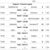 Super Sunday's Ten(10)Multibets with over 2.5goals And Classic Odds ie Juventus, Man U, Arsenal.