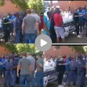 EFF allegedly went to block people from entering the school during a clash over placement of kids.